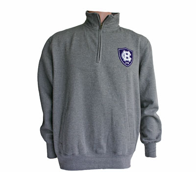 Crew Neck 1/4 Zip Sweatshirt  With  175th Anniversary Logo
