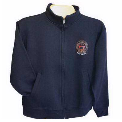Cover Image For Crew Neck Full Zip Sweatshirt with Seal logo   64055