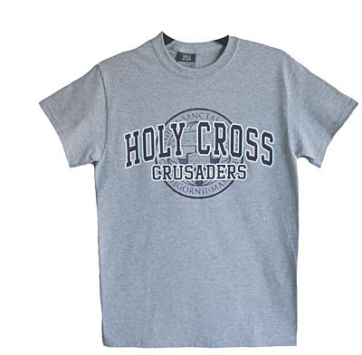 Image For Gray T-shirt With Holy Cross Seal Logo   71174