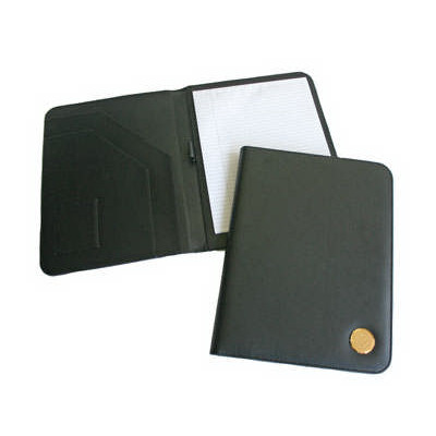 Image For Black Padfolio with Holy Cross Medallion   89075
