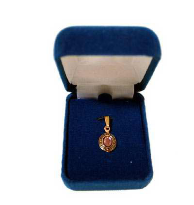 Image For Holy Cross Charm-Gold Plated with Stone 01750