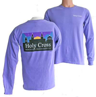 Image For Long Sleeve UScape Tee With Campus Skyline Logo 93382