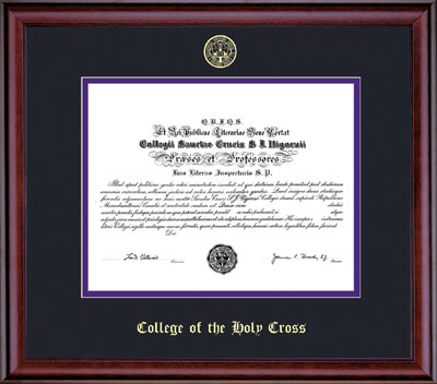 Image For Embossed Classic Diploma Frame - 86370
